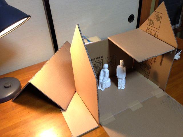 紙粘土とダンボールに挑戦